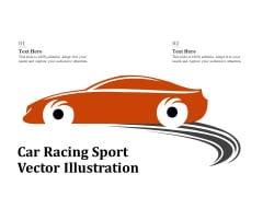 Car Racing Sport Vector Illustration Ppt PowerPoint Presentation Gallery Example Introduction PDF