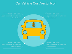 Car Vehicle Cost Vector Icon Ppt PowerPoint Presentation File Maker PDF