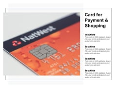 Card For Payment And Shopping Ppt PowerPoint Presentation File Background Images