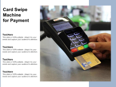 Card Swipe Machine For Payment Ppt PowerPoint Presentation Summary Display