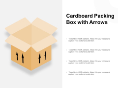 Cardboard Packing Box With Arrows Ppt PowerPoint Presentation Outline Master Slide