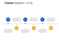 Career 2007 To 2020 Ppt Powerpoint Presentation Icon Guide