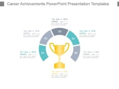 Career Achievements Powerpoint Presentation Templates