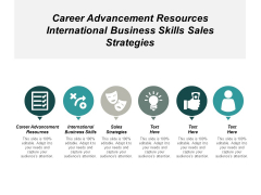 Career Advancement Resources International Business Skills Sales Strategies Ppt PowerPoint Presentation Infographics Influencers