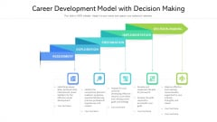 Career Development Model With Decision Making Ppt Powerpoint Presentation Gallery Aids PDF