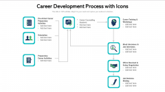 Career Development Process With Icons Ppt File Slideshow PDF