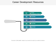 Career Development Resources Ppt PowerPoint Presentation Inspiration Icons Cpb