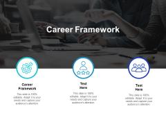 Career Framework Ppt PowerPoint Presentation Visual Aids Gallery Cpb