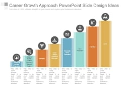 Career Growth Approach Powerpoint Slide Design Ideas