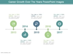 Career Growth Over The Years Powerpoint Images