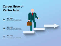 Career Growth Vector Icon Ppt PowerPoint Presentation Summary Background PDF