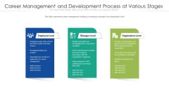 Career Management And Development Process At Various Stages Ppt Slide PDF