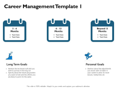 Career Management Goal Ppt PowerPoint Presentation Gallery Infographics