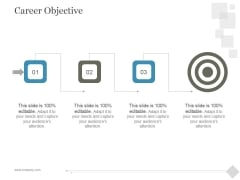 Career Objective Ppt PowerPoint Presentation Diagrams