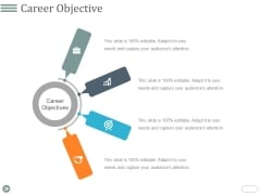 Career Objective Template 1 Ppt PowerPoint Presentation File Display