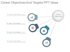 Career Objectives And Targets Ppt Ideas