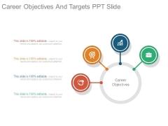 Career Objectives And Targets Ppt Slide