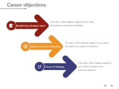 Career Objectives Ppt PowerPoint Presentation Deck