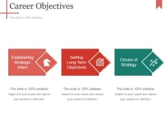 Career Objectives Ppt PowerPoint Presentation Ideas Tips