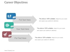 Career Objectives Ppt PowerPoint Presentation Layout