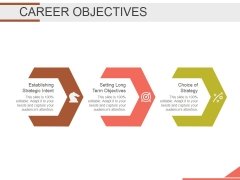 Career Objectives Ppt PowerPoint Presentation Templates