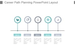 Career Path Planning Powerpoint Layout