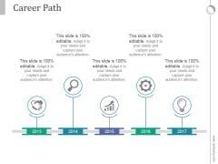 Career Path Ppt PowerPoint Presentation Shapes