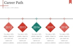 Career Path Template 2 Ppt PowerPoint Presentation Pictures Inspiration