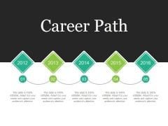 Career Path Template 2 Ppt PowerPoint Presentation Summary Professional