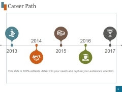 Career Path Template 4 Ppt PowerPoint Presentation Graphics