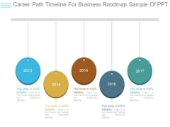 Career Path Timeline For Business Raodmap Sample Of Ppt
