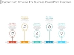 Career Path Timeline For Success Powerpoint Graphics