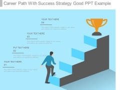 Career Path With Success Strategy Good Ppt Example