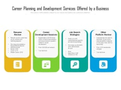 Career Planning And Development Services Offered By A Business Ppt PowerPoint Presentation File Slideshow PDF