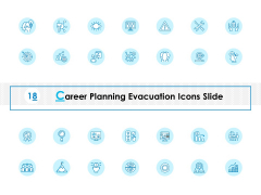 Career Planning Evacuation Icons Slide Ppt PowerPoint Presentation Infographics Introduction
