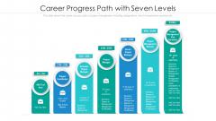 Career Progress Path With Seven Levels Ppt Portfolio Shapes PDF