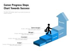 Career Progress Steps Chart Towards Success Ppt PowerPoint Presentation Icon Professional PDF