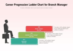 Career Progression Ladder Chart For Branch Manager Ppt PowerPoint Presentation Icon Backgrounds PDF