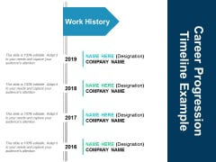Career Progression Timeline Example Ppt PowerPoint Presentation File Templates