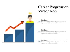 Career Progression Vector Icon Ppt PowerPoint Presentation Inspiration Graphics Pictures PDF