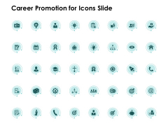 Career Promotion For Icons Slide Idea Bulb Ppt PowerPoint Presentation Inspiration Display