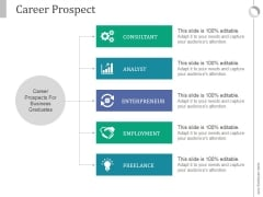 Career Prospect Ppt PowerPoint Presentation Guide