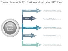 Career Prospects For Business Graduates Ppt Icon