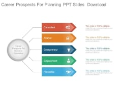 Career Prospects For Planning Ppt Slides Download