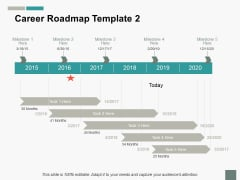 Career Roadmap Ppt PowerPoint Presentation Summary Slide