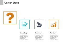 Career Stage Ppt PowerPoint Presentation Outline Slide Portrait Cpb