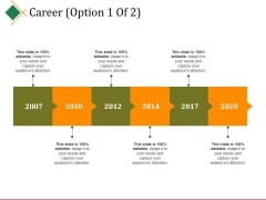 Career Template 1 Ppt PowerPoint Presentation Infographics Tips
