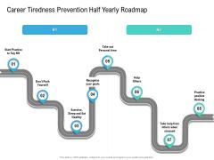 Career Tiredness Prevention Half Yearly Roadmap Designs Mockup