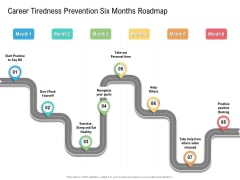 Career Tiredness Prevention Six Months Roadmap Clipart Elements