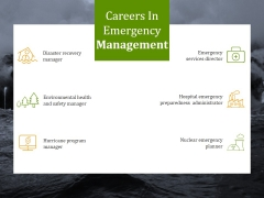 Careers In Emergency Management Ppt PowerPoint Presentation Files